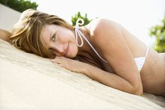 nätt kvinna för bikini Royaltyfri Fotografi