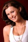 nätt kvinna för brunett Royaltyfri Foto