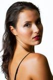 nätt kvinna för brunett Royaltyfria Bilder