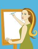 nätt kvinna för draw Royaltyfri Bild