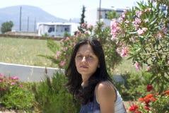 nätt kvinna för grekiska öar Arkivbilder