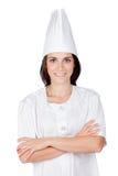 nätt kvinna för kock Royaltyfri Fotografi