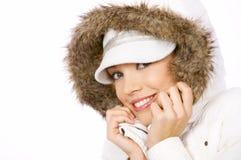 Nätt kvinna i vintermode Royaltyfri Foto