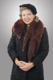 Nätt kvinna med kläder 1940 Arkivfoton