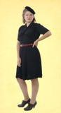 Nätt kvinna med kläder 1940 Fotografering för Bildbyråer
