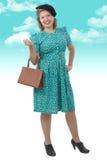Nätt kvinna med kläder 1940 Royaltyfria Bilder