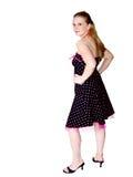 nätt kvinnabarn för klänning Royaltyfria Bilder