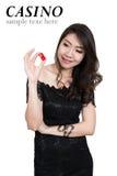 Nätt kvinnashow beståndsdelar för en kasino arkivfoton