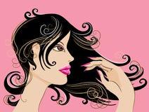nätt lady Royaltyfria Bilder