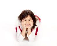Nätt le för liten flicka Fotografering för Bildbyråer