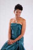 Nätt le för svart kvinna Royaltyfria Foton