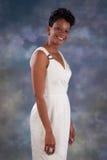 Nätt le för svart kvinna Royaltyfria Bilder