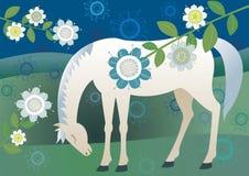 Nätt ledsen häst Arkivbilder