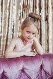Nätt liten flicka Arkivbild