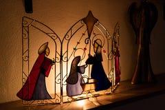 Nätt liten juljulkrubba Royaltyfri Fotografi