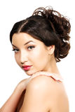 Nätt med flätat hår Royaltyfria Bilder