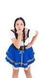 Nätt mest oktoberfest flicka som blåser en kyss Royaltyfri Foto