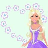 Nätt prinsessa Arkivbilder