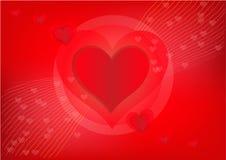 Nätt röd hjärta för valentindag Arkivfoton