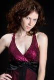 nätt redheadkvinna Fotografering för Bildbyråer