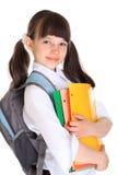nätt schoolgirlbarn arkivfoto