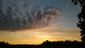 Nätt September solnedgång Fotografering för Bildbyråer