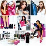 nätt shoppa womans Royaltyfri Foto