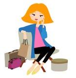 nätt shopping för flicka Royaltyfri Fotografi