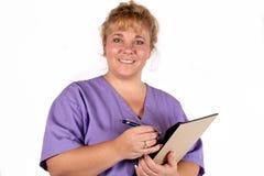 nätt sjuksköterska Arkivbilder