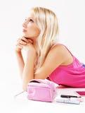 nätt skönhetsmedelflicka Royaltyfri Foto