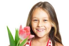 Nätt skratta liten flicka Arkivfoton