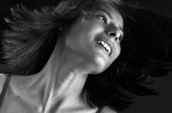 nätt slående hår Arkivfoto