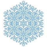 Nätt snöflinga för vektorrundablått Royaltyfri Foto