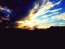 nätt solnedgång royaltyfria foton