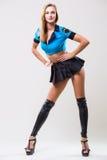 Nätt sportig kvinnadansare Arkivfoton