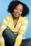 nätt svart flicka fotografering för bildbyråer