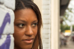 nätt svart flicka Royaltyfri Fotografi