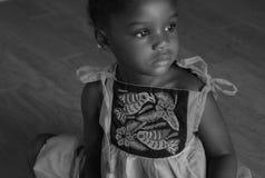 nätt svart flicka Royaltyfria Bilder