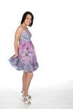 nätt teen för klänning Royaltyfri Foto