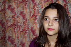Nätt teen flickastående Fotografering för Bildbyråer