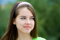 Nätt tonårs- flicka Arkivfoton
