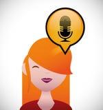 Nätt ung kvinna med rött hårG Arkivfoton