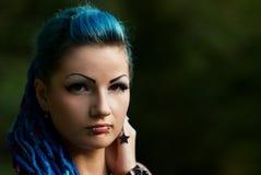 Nätt ung punk flicka Arkivfoton