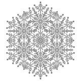 Nätt vektorrundasnöflinga Royaltyfri Bild