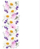 Nätt vertikalt blommabaner royaltyfri illustrationer