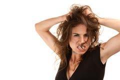 nätt wild kvinna för hår Royaltyfri Foto