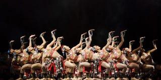Nätta dansflickor Arkivbild