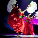Nätta kinesiska nationella dansare Arkivbilder