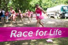 Nätta Muddy Race för liv Arkivbild