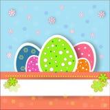 Nätta och trevliga easter ägg Arkivbild